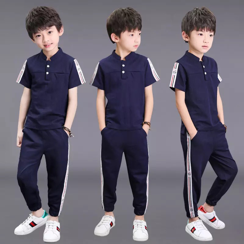 New Teenager Boy Tracksuit Kids Clothing Set Two Pieces Top & Pants Casual Short Sleeve Summer Boy Clothes 3-13 YearsNew Teenager Boy Tracksuit Kids Clothing Set Two Pieces Top & Pants Casual Short Sleeve Summer Boy Clothes 3-13 Years