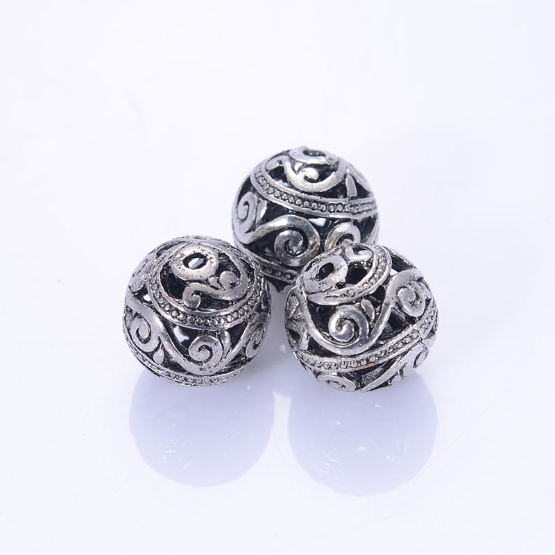 Antique Design Tibetan Style Beads Cast Beads 15mm Antique Silver Flligree Ball For Jewelry Making Sold of 30 PCS