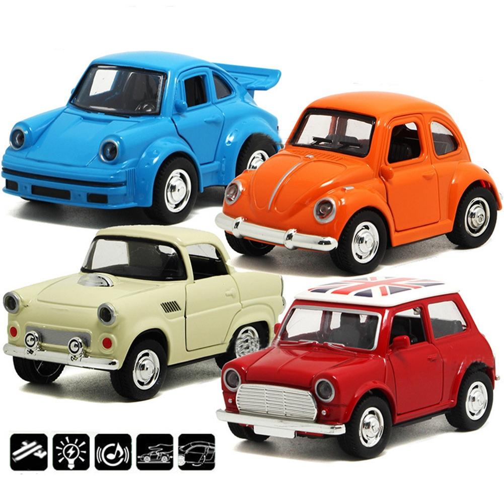 1pc 1:38 Alloy <font><b>Car</b></font> Pull Back <font><b>Diecast</b></font> <font><b>Model</b></font> Toy Sound light Collection <font><b>Car</b></font> Vehicle Toys For Boys Children Christmas Random Color image