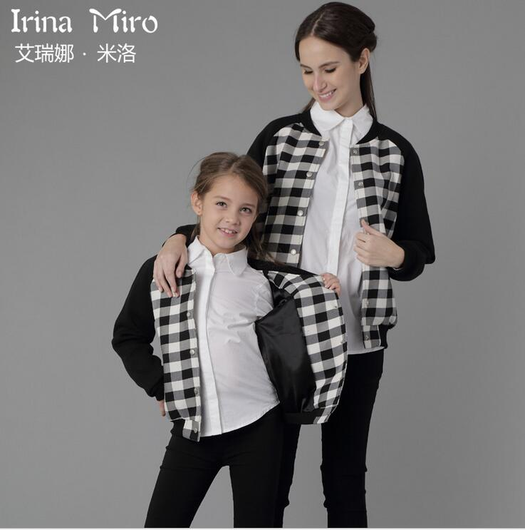 Family Matching Outfits Mother Daughter Clothes Baseball Jackets Coat Kids Parent Child Fashion Sports Clothing Sw150761