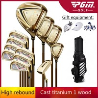 Send Hat! Golf Clubs Complete Sports Golf Equipment Men's Professional Right Hand Poles High Rebound Casting Titanium 1/3/5 Wood