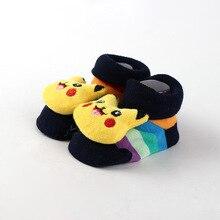 Newborn 0-8Months Cotton Lovely Animal Cartoon Fruit Socks 18 Styles Slipper Cute Anti Slip Cotton Baby Toddler Socks Shoes