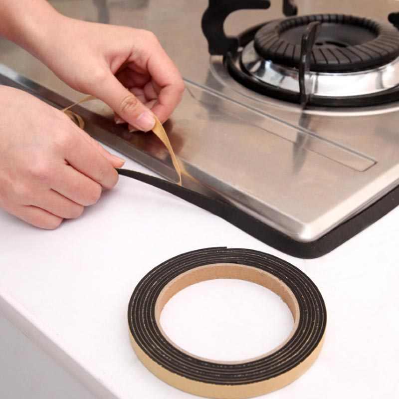 1 rollo de cinta de sellado de pared de baño de cocina de alta calidad resistente al agua, cinta adhesiva prefabricada para el hogar Gadgets 1x200cm 8