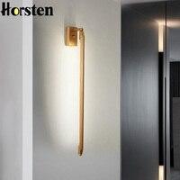 Nordic Minimalistycznym T5 LED Kinkiet 68 cm Długi Pokój Dzienny Bar Sypialnia Lampki Nocne Oświetlenie Kinkiety Retro Home Decoration oprawy oświetleniowe