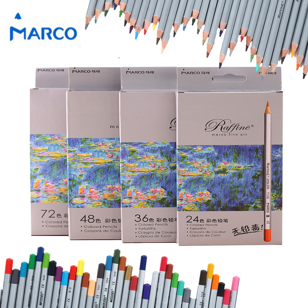 Brand New High Quality 24/36/48/72 Color Fine Art Drawing Oil Base Non-toxic Colored Pencils  Crayons Set For Artist Sketch