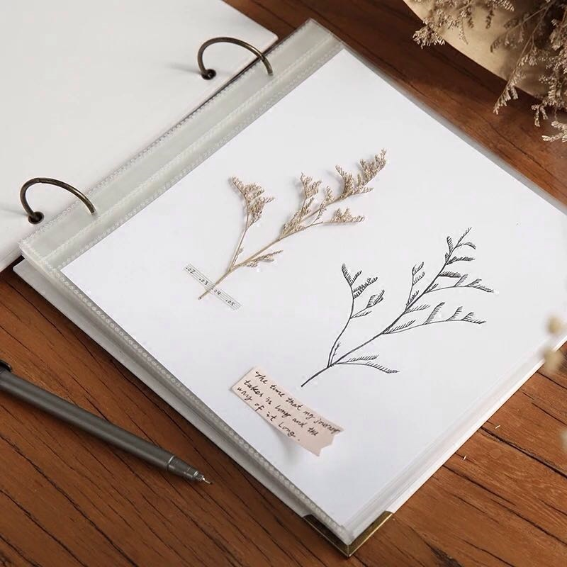 Scrapbook Photo Album DIY Self Adhesive Journal Book Retro