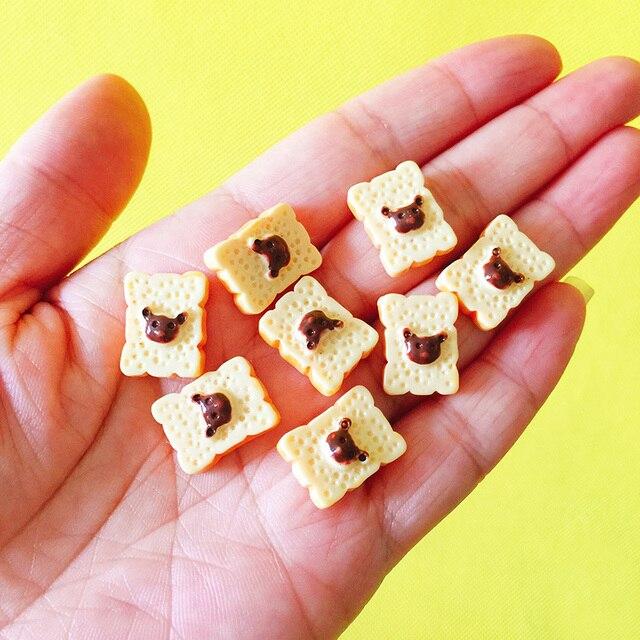 10 Pcs Toast/bread/dessert/miniatures Food/lovely Cute/fairy Garden