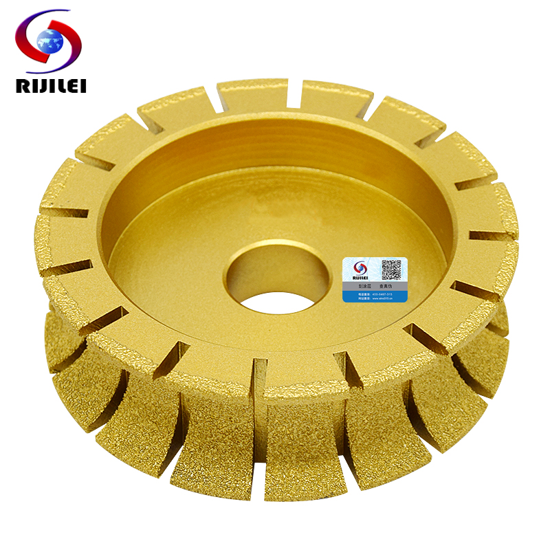 RIJILEI 140mm Brazing Diamonds Marble Sanding Disc Profile Wheel for Marble Edge Grinding wheel Marble edging discs MX44 5 6 brazing edge grinding wheels 140mm edging abrasive disc 20mm thick free shipping