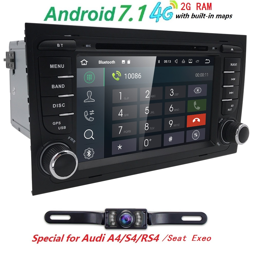 Free Camera1024 600 Quad Core 2din Android 7 1 font b car b font Auto Dvd
