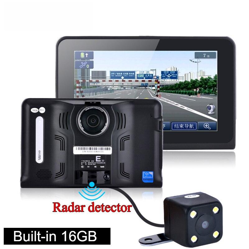 7 inch Android Car dvrs radar Recorder font b camera b font FHD 1080P Car GPS