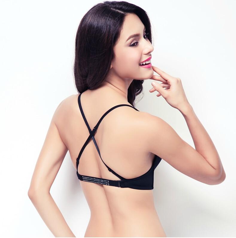 c7530c1f6adce 2015 Plunge Deep U Bra Sutian convertible straps top push up cotton big  plus size bras for Woman sutia adesivo bralette crop-in Bras from Underwear  ...