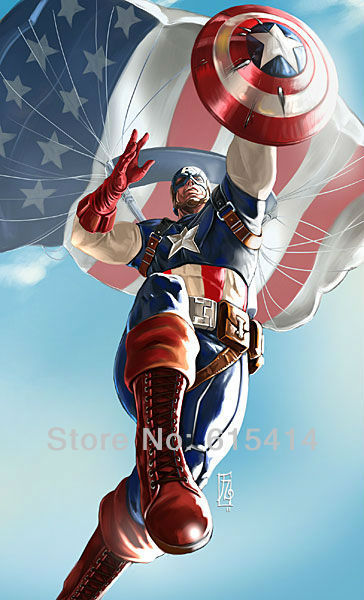 09 Captain America moivie 24'' x 40'' Inch Wallpapr Sticker Poster
