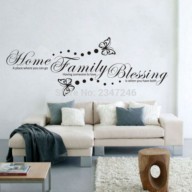 Decorated Letter Home Quotes Wall Sticker Erfly Vinyl Posters Decor For House Decoration Warm Decors