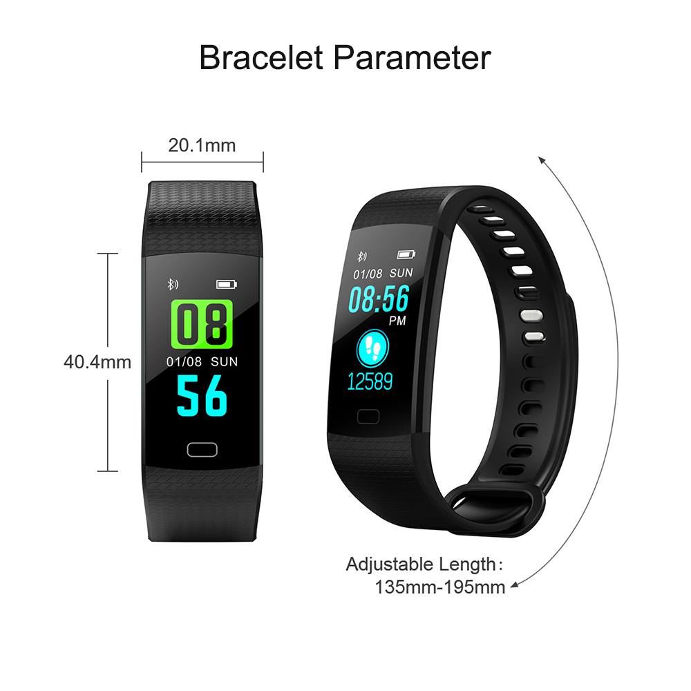 Diggro DB07 Fitness Smart Bracelet Smart Band Sport HD Color Screen Heart  Rate Blood Pressure Blood Oxygen for IOS Android