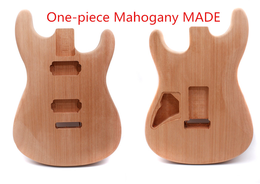 unfinished ST Guitar Body HH Unfinished One-piece Mahogany DIY Electric Guitar free shipping new unfinished left hand electric guitar in natural color with mahogany body diy your guitar foam box f 1195