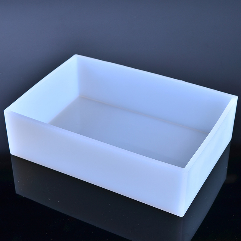 Nicole Silicone Soap Mold Rectangle White Liner Mould For Handmade Making Tool