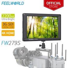 FEELWORLD FW279S 7 인치 2200nit Daylight Viewable 3G SDI 미니 HDMI 카메라 DSLR 필드 모니터 4K HDMI 1920X1200 야외