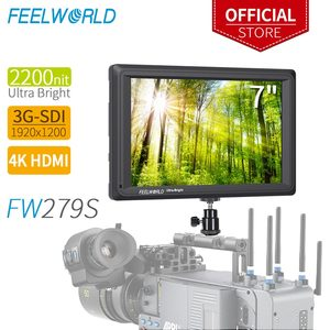 Image 1 - FEELWORLD FW279S 7 Inch 2200nit Daylight Viewable 3G SDI Mini HDMI on Camera DSLR Field Monitor  4K HDMI 1920X1200 for Outdoor
