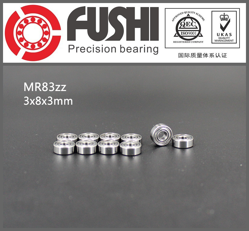 MR83ZZ Bearing ABEC-1 ( 10 PCS) 3*8*3 mm Miniature MR83 ZZ Ball Bearings R-830 MR83Z gcr15 6326 zz or 6326 2rs 130x280x58mm high precision deep groove ball bearings abec 1 p0