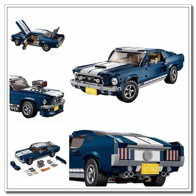 Oyuncaklar ve Hobi Ürünleri'ten Bloklar'de Stokta Ford Mustang 10265 Uyumlu Creator Uzman Yapı Taşları Tuğla oyuncaklar hediyeler çocuklar için Çocuk'da  Grup 1