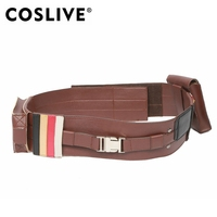 Coslive Star Wars Cosplay Brown PU Belt With Two Pouches Halloween Cosplay Costume Star War Anakin Skywalker Prop For Men Adult
