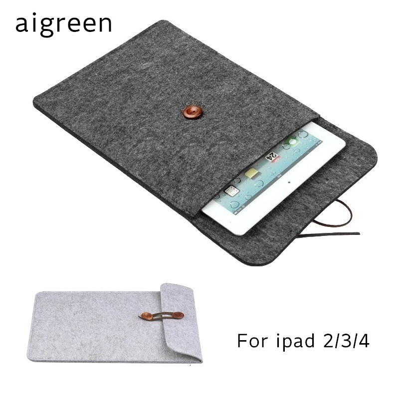 2018 Newest Brand Woolen felt Sleeve Case For ipad 2/3/4, Bag For ipad 9.7 inch, For 9 Tablet, Wholesales, Free Drop Shipping. new brand bubm case for ipad air pro 9 7 storage bag for ipad mini tablet 7 9 pouch for 7 9 tablet free drop ship