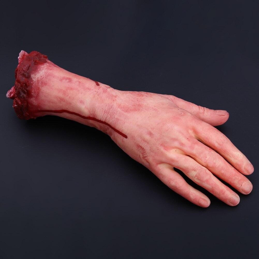 Simulation Hand Mischief Props Horror Zombies Broken Hand Bloody