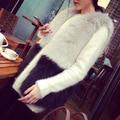 Vest women Women Winter Knitted Mink Fur Coat Lady Faux Rabbit Abrigos Mujer Spring Fox Fur Vest colete feminino de inverno