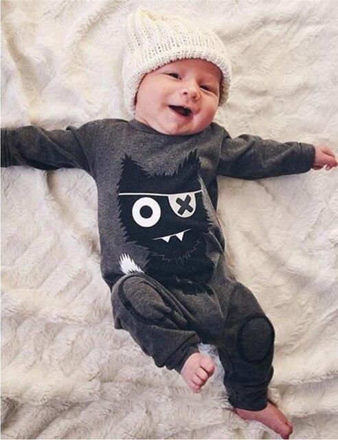 c24c3d5c21c8a 2019 nouveau style bébé garçon vêtements à manches longues monstre bébé  barboteuse nouveau-né vêtements