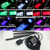 4 In1 Car Auto Interior Wireless Remote Voice Music RGB Control 7 Colors Strip Decorative LED