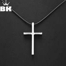Hot Selling Retro Silver Cross Pendant Fashion Black Leather Cord Necklace Vintage Boho Choker Charm Necklace For Men Women(China)