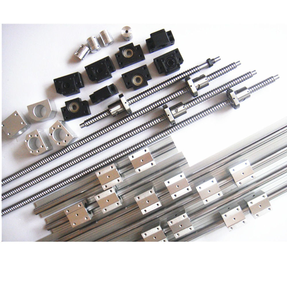6sets JHY linear rail SBR16 L300/1500/1500mm+SFU1605-350/1550/1550mm ball screw+3 BK12/BF12+3 DSG16H nut+3 Coupler for cnc 6 sets linear rail sbr16 l300 900 1100mm sfu1605 300 900 1100mm 1100mm ball screw 4 bk12 bf12 4 dsg16h nut 4 coupler for cnc