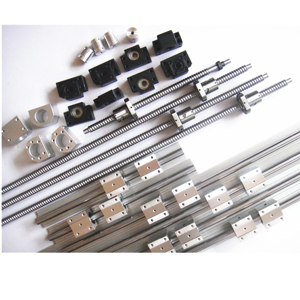 3 BK//BF12+3coupler 3 ballscrews RM1605-400//900//1500 3 SBR16-400//900//1500 rails