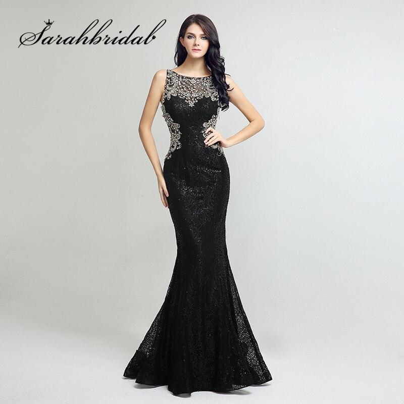 53fee321e8f Пикантные черные сапоги кружевные вечерние платья Длинные Русалка бисером