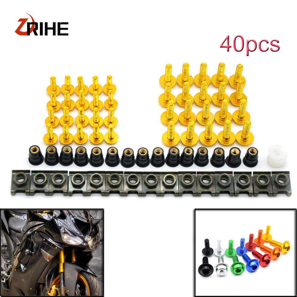 Universal Motorcycle Sports Car Rectification Bolts and Windshield Screw for honda Cbr 600 F2 F3 F4 F4i 900 Cbr900rr Deauville mf2300 f2
