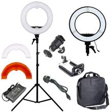 ZUOCHEN 12″ Ring Light Camera Photo/Video Portrait photography 240pcs LED 5500K Dimmable+ 2M Light Stand