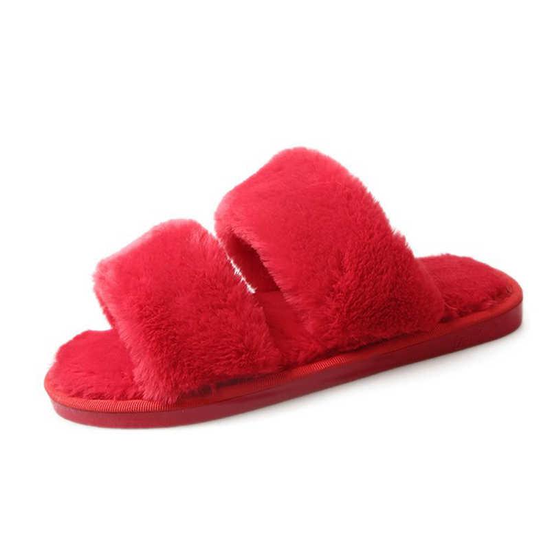 rihanna fuzzy slippers