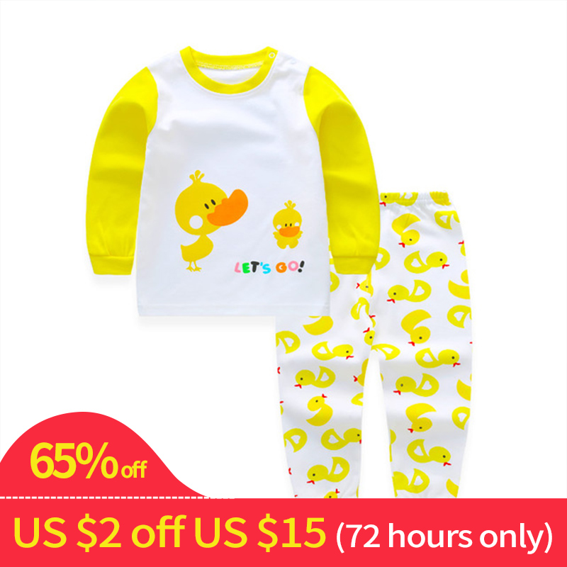 Toddler Pyjamas Kids Baby Suit Boy Clothes Set Long Sleeve Sets Baby Boys Outfits Baby Girl Outfit Clothing Children Pajamas Set baby boy girl clothing set high quality cotton kids children clothes pullover hooded suit for boy girl long sleeve spring sets