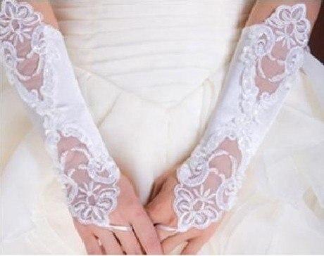 2018 Finger Spitze Braut Handschuhe Für Hochzeit Party