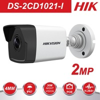 HIK 1080P Security Camera Outdoor DS 2CD1021 I 2MP CMOS Bullet CCTV IP Camera with Day&Night Version IP67 No SD Card Slot