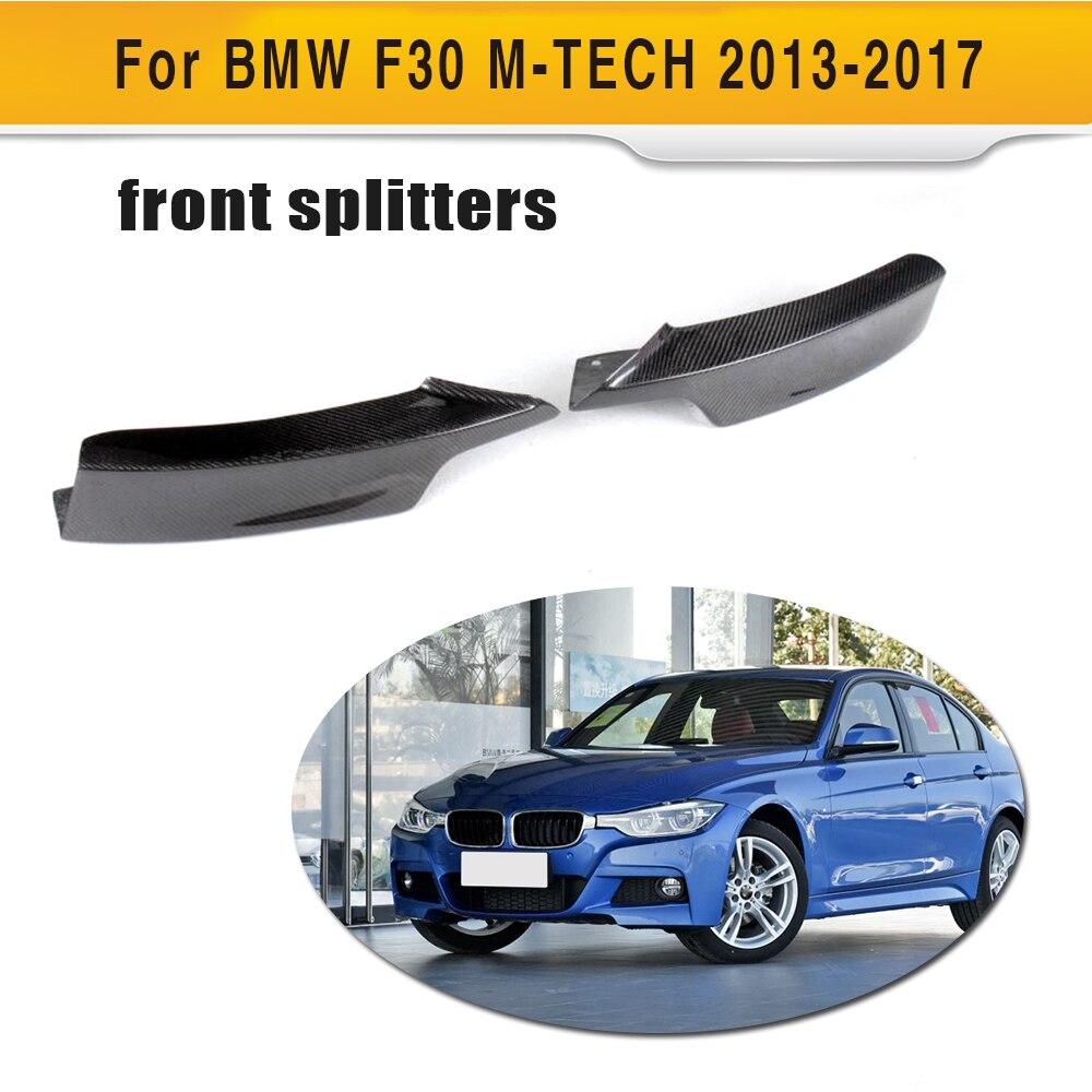 3 Series Carbon Fiber Front Bumper Splitters Lip Flaps Cupwings for BMW F30 M Sport Sedan 4 Door 13-17 320i 325i 328i Black FRP 3 series carbon fiber front bumper lip spoiler for bmw f30 m sport sedan 4 door 2012 2016 d style 320i 325i 328i 330i 335i