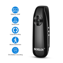 BOBLOV كاميرا صغيرة كامل HD 1080P المحمولة كامارا الشرطة مسجل فيديو الجسم كام دراجة نارية الحركة بوديكامير كاميرا صغيرة