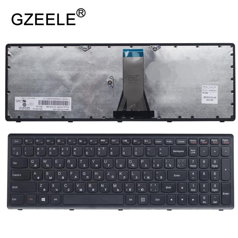 GZEELE Russian Keyboard for Lenovo for IdeaPad G500C G500S G500H S500 S500C G505s G510S S510p Z510 RU BLACK FRAME new russian ru laptop keyboard for lenovo ideapad flex 15 flex15 g500s g505s s500 s510 s510p z510 silver grey frame with backlit