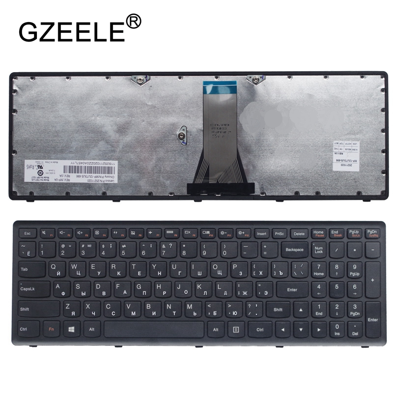 GZEELE Russische Tastatur für Lenovo für IdeaPad G500C G500S G500H S500 S500C G505s G510S S510p Z510 RU SCHWARZ RAHMEN