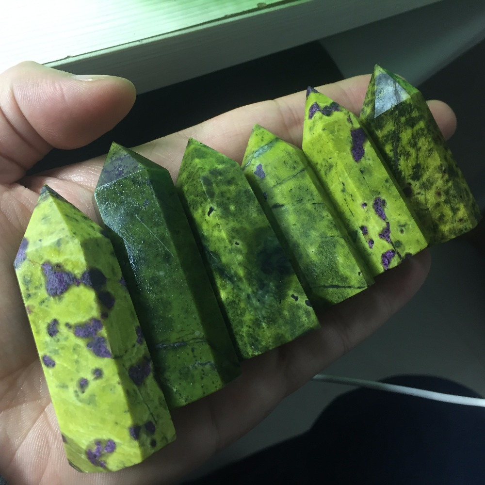 6 Piece A Lots Natural Tasmania And Stichtite In Serpentine Jade Minerals Carved Healing Stones