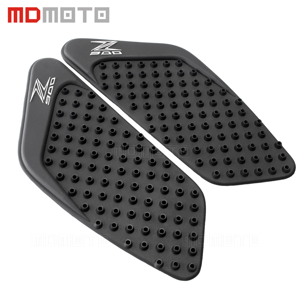 2x Motorcycle Tank Traction Pad Side Gas Knee Grip Protector Anti slip sticker 3M Black Cover For kawasaki Z900 2017 Tank Pad scoyco k11h11 motorcycle sports knee elbow protector pad guard kit black