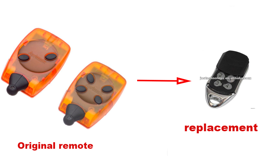 Aprimatic TR2, TR4 replacement remote control free shipping twindoor replacement remote control 433mhz free shipping