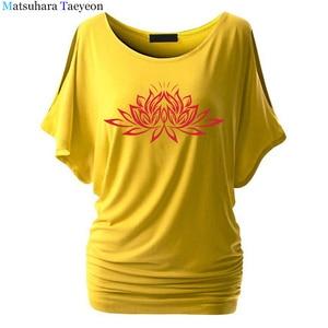 Image 5 - Beautiful Lotus Women Cotton T Shirts Fashion  Print Summer T Shirt All Match O Neck Short Sleeve Casual T Shirts Base Tees