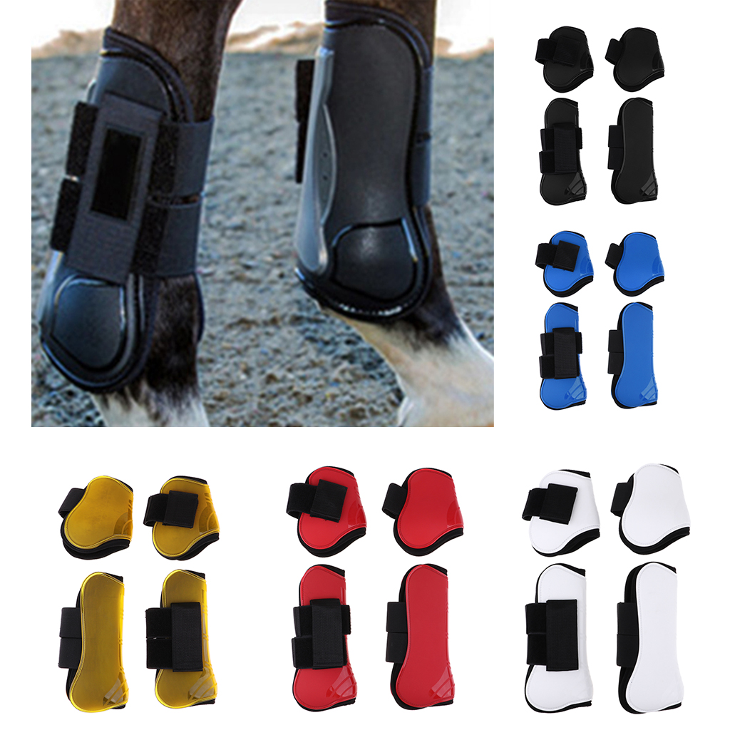 Brushing Horse Boots Lightweight Breathable Travel Front & Hind Boots Legs Protector Wrap For Training Jumping Riding Eventing