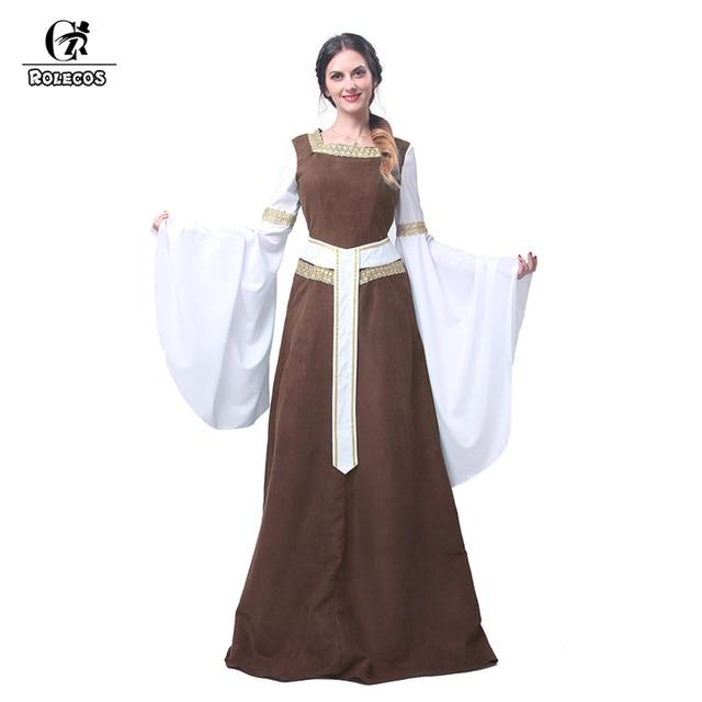 Retro Kleding.Rolecos Vrouwen Europese Retro Kleding Renaissance Middeleeuwse